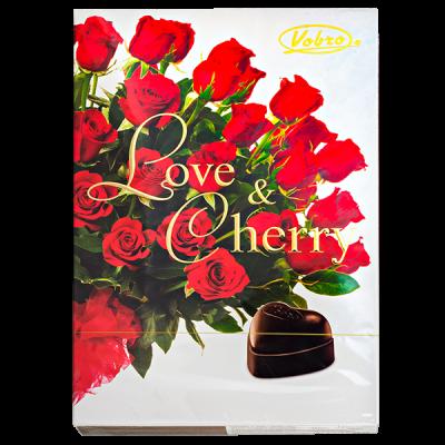 конфеты VOBRO LOVE&CHERRY 198 г 1 уп.х 12 шт.