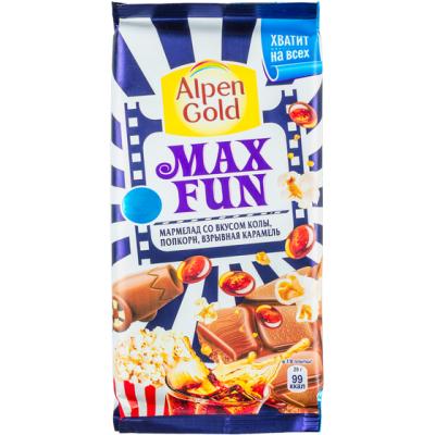 шоколад Альпен Гольд Макс Фан Вкус Колы 150 г 1 уп.х 16 шт.