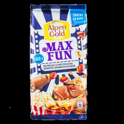 шоколад Альпен Гольд Макс Фан Вкус Колы 150 г 1 уп.х 15 шт. или 1 уп. х 16 шт.