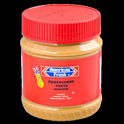 арахисовая паста AMERICAN FRESH кремовая 340 г 1 уп.х 12 шт.