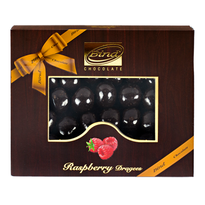 конфеты BIND CHOCOLATE Raspberry Dragees 100 г 1 уп.х 12 шт.