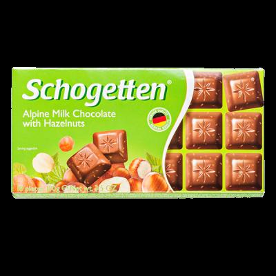 шоколад SCHOGETTEN Alpine Milk Choсolate with Hazelnuts 100 г 1уп.х 15шт.