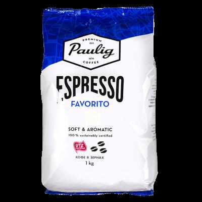 кофе PAULIG ESPRESSO FAVORITO 1 кг зерно 1 уп.х 4 шт.