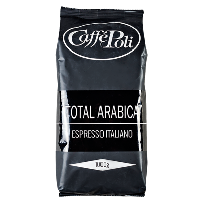 кофе Caffe Polli TOTAL ARABICA 1 кг зерно 1 уп.х 10 шт.