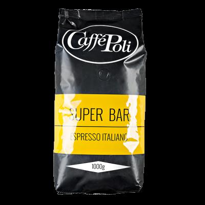 кофе Caffe Polli SUPER BAR 1 кг зерно 1 уп.х 10 шт.