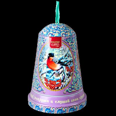 чай HILLTOP музыкальный колокольчик 'СНЕЖНЫЕ УЗОРЫ' ж/б 100 г 1 уп. х 12 шт.