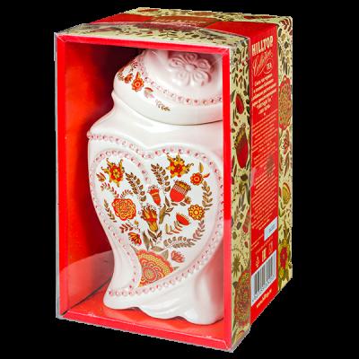 чай HILLTOP чайница 'Цветочный орнамент' 1001 ночь, керамика 100 г 1уп. х 6 шт.