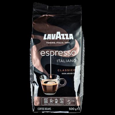 кофе LAVAZZA ESPRESSO ITALIANO CLASSICO 500 г зерно 1 уп.х 12 шт.