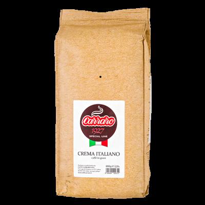 кофе CARRARO CREMA ITALIANO 1 кг зерно 1 уп. х 6 шт.