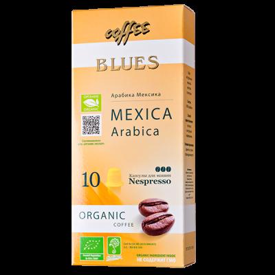кофе капсулы BLUES MEXICO ARABICA ORGANIC 1уп х 10 капсул