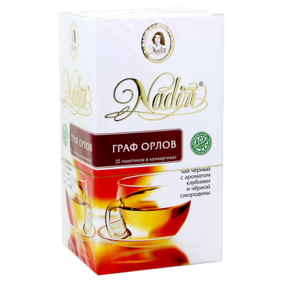 чай NADIN 'Граф Орлов' 25 пакетиков 1 уп.х 12 шт.