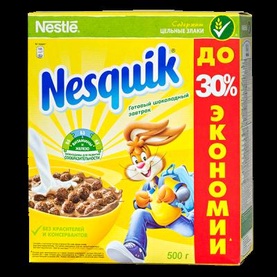 Готовый завтрак NESTLE Nesquik 500 г 1 уп.х 10 шт.