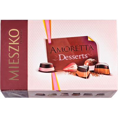 конфеты MIESZKO  AMORETTA DESSERTS 137 г 1 уп.х 13 шт.