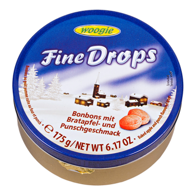 Карамель WOOGIE леденцовая (монпансье)  Fine Drops Ж/Б 175 г 1 уп.х 10 шт.