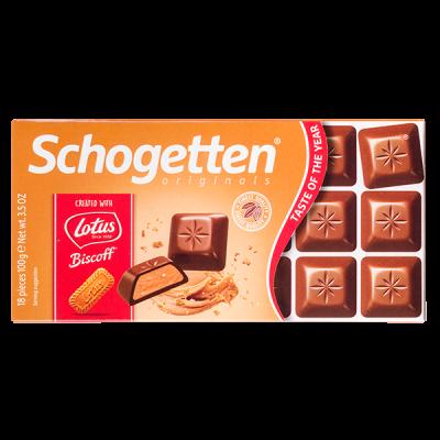 шоколад SCHOGETTEN Lotus Biscoff 100 г 1уп. х 15шт.