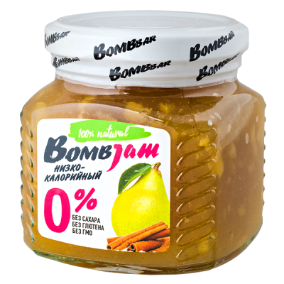 джем BombJam Груша-Корица 250 г 1 уп.х 6 шт.