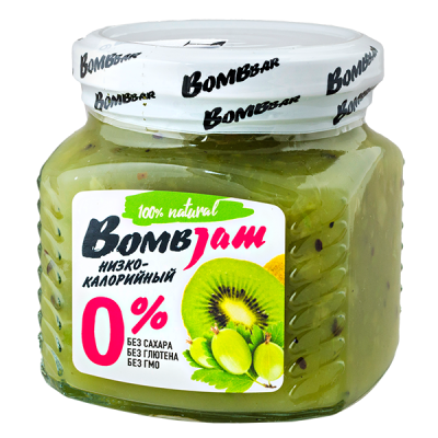 джем BombJam Киви-Крыжовник 250 г 1 уп.х 6 шт.