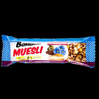 Батончик Bombbar MUESLI Peanut, Flax, Sesam 45 г 1 уп.х 21 шт.