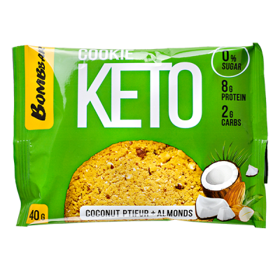 Печенье Bombbar KETO Coconut Ptifur+Almonds 40 г 1 уп.х 12 шт.