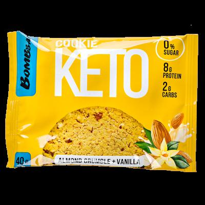 Печенье Bombbar KETO Almond Crumble+Vanilla 40 г 1 уп.х 12 шт.