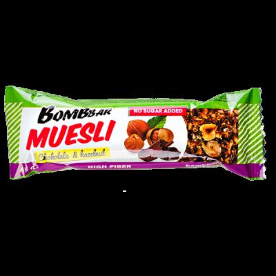 Батончик Bombbar MUESLI Chokolate&Hazelnut 45 г 1 уп.х 21 шт.