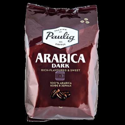кофе PAULIG ARABICA DARK 1 кг зерно 1 уп.х 4 шт.