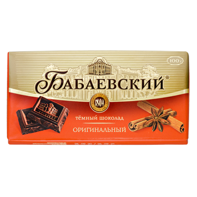 шоколад Бабаевский Оригинальный 100 г 1 уп.х 17 шт.