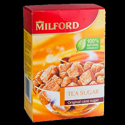 сахар коричневый тростниковый кусковой MILFORD 300 г 1уп.х 10 шт.