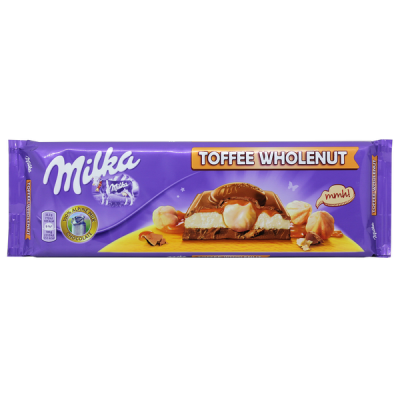 шоколад Милка Wholenut Caramel 300 г 1 уп.х 12 шт.