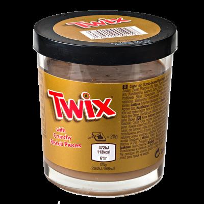 шоколадная паста TWIX с хрустящими кусочками печенья 200 г 1 уп.х 6 шт.
