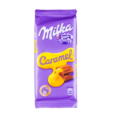 шоколад Милка Карамель 90 г 1 уп.х 20 шт.