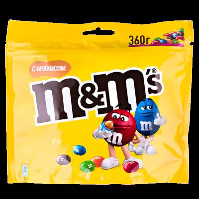 драже М&М's с арахисом 360 г 1 уп.х 14 шт.