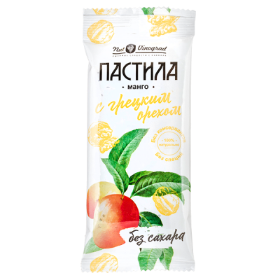 Пастила Nut Vinograd манго с грецким орехом 50 г
