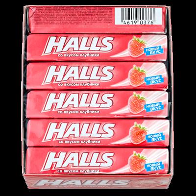 карамель леденцовая Холлс вкус клубники 25 г 1 уп.х 12 шт.