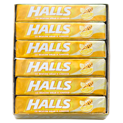 карамель леденцовая Холлс мед и лимон 25 г 1 уп.х 12 шт.