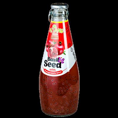 напиток AZIANO Basil Seed Pomegranate 290 мл СТ/Б 1 уп.х 24 шт.