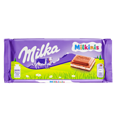 шоколад Милка Milkinis 100 г 1 уп.х 22 шт.