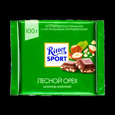 шоколад Риттер Спорт Лесной Орех 100 г 1уп.х 12шт.