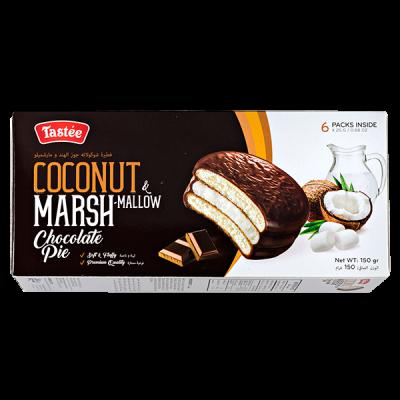 печенье TASTEE COCONUT MARSHMALLOW chocolate pie 150 г 1 уп. х 16 шт.
