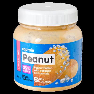 паста CHIKALAB CAPTAIN PEANUT арахисовая с морской солью  250 г 1 уп.х 12 шт.