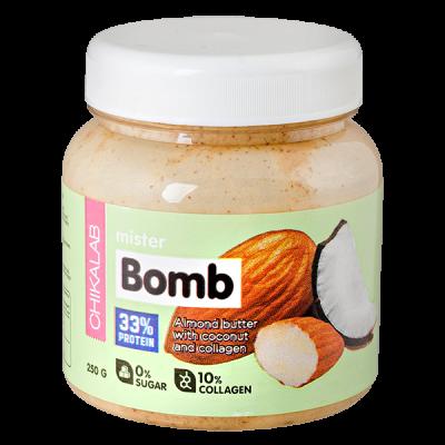 паста CHIKALAB MISTER BOMB миндальная с кокосом  250 г 1 уп.х 12 шт.