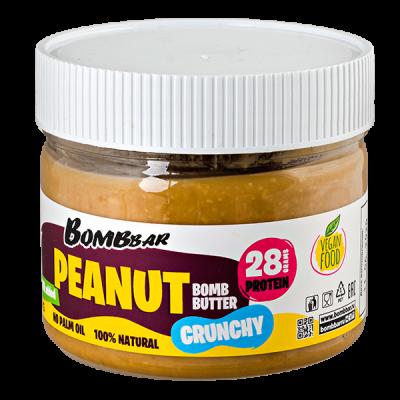паста BOMBBAR PEANUT CRUNCHY арахисовая хрустящая 300 г 1 уп.х 12 шт.