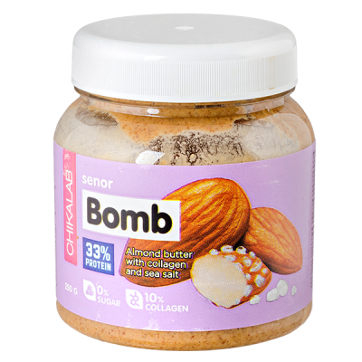 паста CHIKALAB SENOR BOMB миндальная с морской солью  250 г 1 уп.х 12 шт.