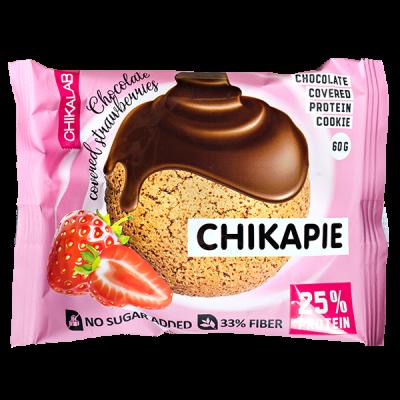 Печенье Chikapie глазированное Chocolate&Strawberry 60 г 1 уп.х 9 шт.
