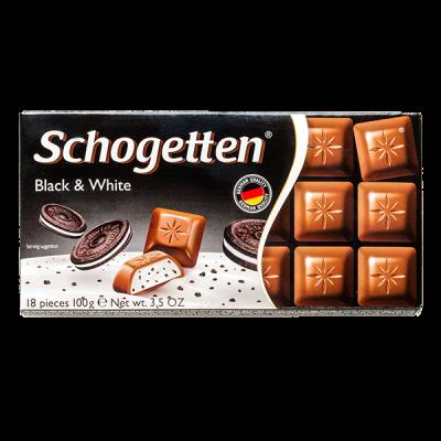 шоколад SCHOGETTEN Black&White 100 г 1уп. х 15шт.