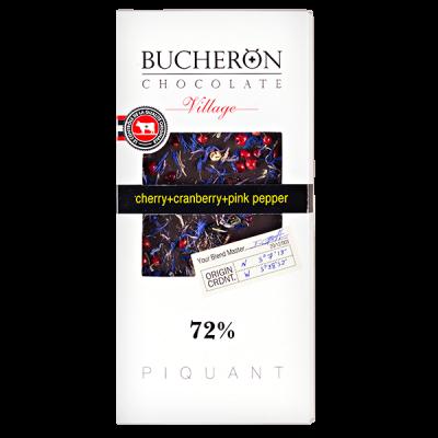 шоколад BUCHERON VILLAGE 72% Вишня Клюква Розовый Перец 100 г 1уп.х 10шт