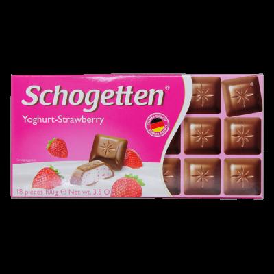 шоколад SCHOGETTEN Yoghurt- Strawberry 100 г 1уп. х 15шт.