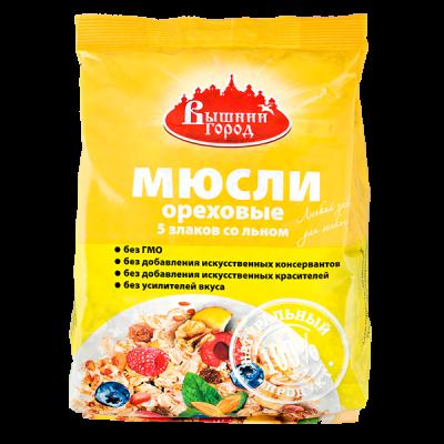 Мюсли Ореховые 5-злаков со льном 350 г 1 уп.х 10 шт.