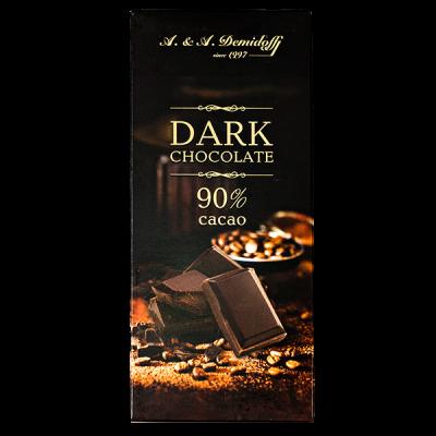 шоколад A&A Demidoff DARK 90% 100 г 1 уп.х 12 шт.