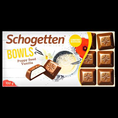 шоколад SCHOGETTEN Bowls Poppy Seed Vanilla 100 г 1уп. х 15шт.